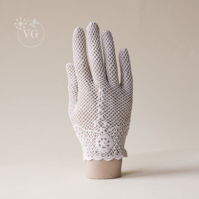 Victorian Style Butterfly Crochet Gloves