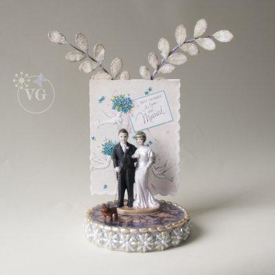 unusual wedding cake topper