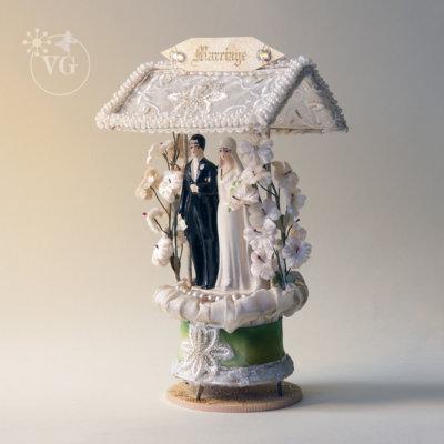 Roaring Twenties Wedding Cake Topper