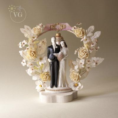 1930s wedding cake topper
