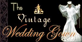 the vintage wedding gown