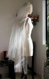 vintage 1930s wedding veil