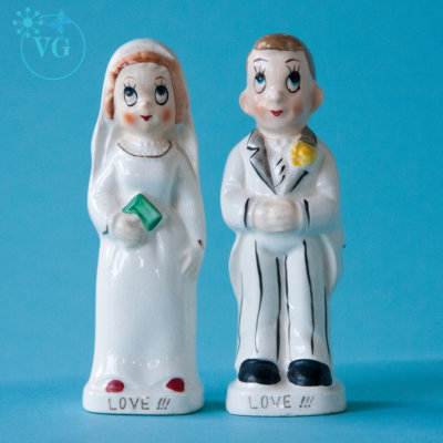 1950's Love & Marriage Cake Topper