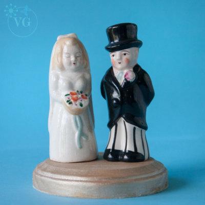 1940's Vintage Wedding Cake Topper